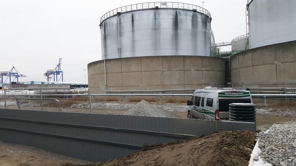 Olje och översvämningsskydd Pampus Norrköping