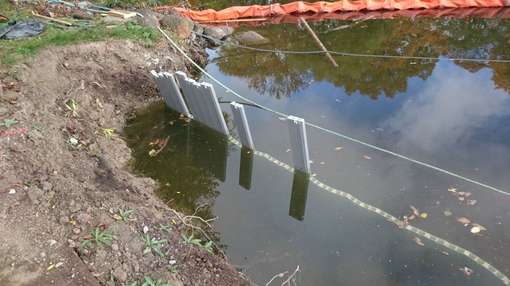 Erosionsskydd vid Kinda Kanal