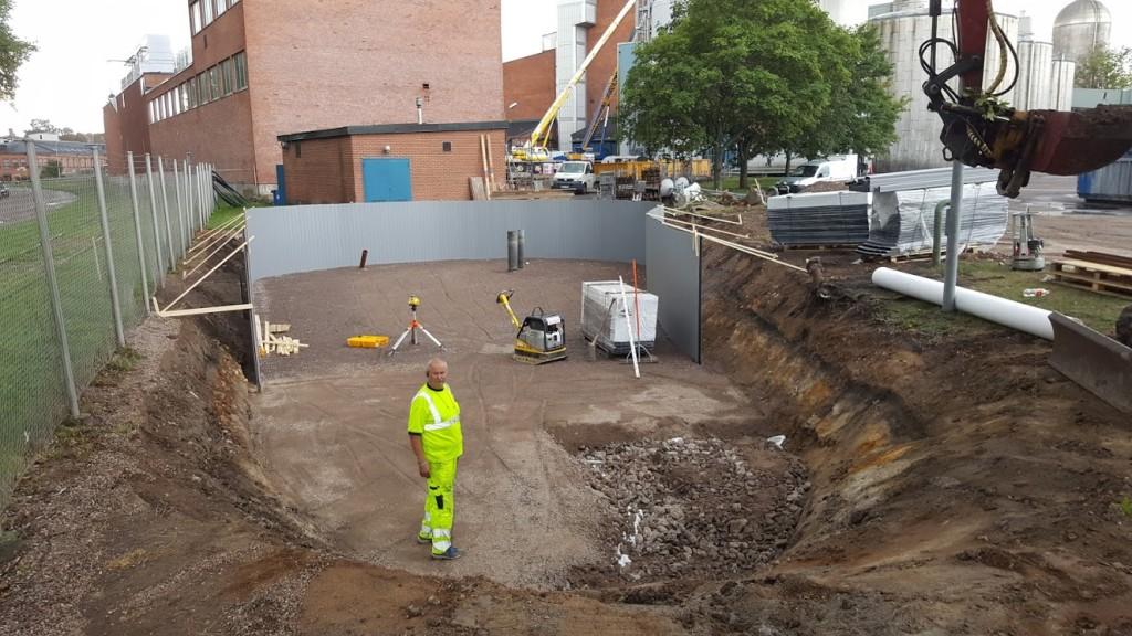 Ny sedimentdamm vid värmeverket i Linköping